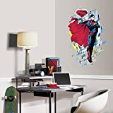 "RoomMates RMK3058TB Classic Superman Peel & Stick Giant Wall Graphic, 23"" x 34"""