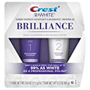 Crest 3D White Brilliance Toothpaste and Whitening Gel System, 4.0oz and 2.3oz