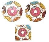 Donut Time Party Plates (16) Napkins (16) Party Bundle