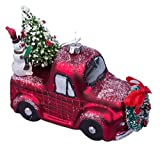RAZ Imports Christmas Car and Truck Glass Ornaments, Set of 2 - Red and Green
