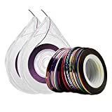 Nail Tape 30 Colors Narrow Line Striping Tape for Nail Art Decoration Crafting Projects Thin Stickers with 2 Dispensers
