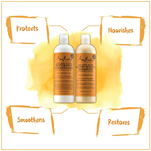 SheaMoisture Raw Shea Butter Shampoo & Conditioner Set | 16 fl. oz. Shampoo | 16 fl. oz. Conditioner