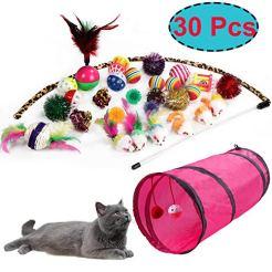 M-JJYPET-Cat-Toys-Kitten-Toys-Assortments30-Packs2-Way-TunnelCat-Balls-with-BellsCat-Feather-ToyCat-Mice-ToyCat-Crinkle-BallsPuppyKittyKitten