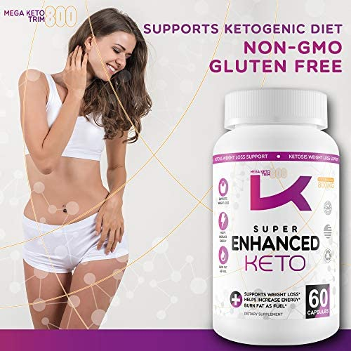 Super Enhanced Keto - Keto Weight Loss Pills - Burn More Fat - Lose More Weight - Best Weight Loss Pills for Women That Work Fast - Fast Easy Weight Loss - Fast Weight Loss - Exogenous Ketones 6
