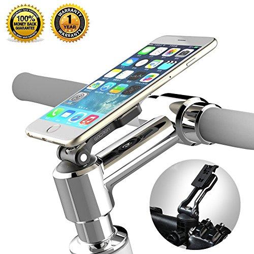 Bike Phone Mount Bicycle Holder, Gaciron Universal 2in1 Bike Handlebar & Stem Cap Mount -Adjustable Compact Cycling Fit for Smartphone, GPS, Video Recorder (Black)