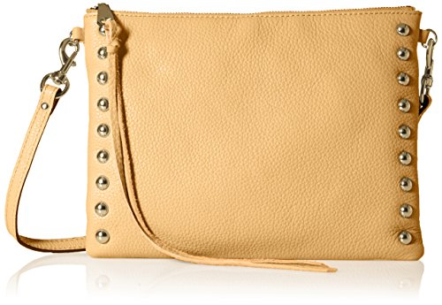 51h8TlNs1XL Pebbled-leather handbag with studded trim and long zipper pulls Removable/adjustable cross-body strap