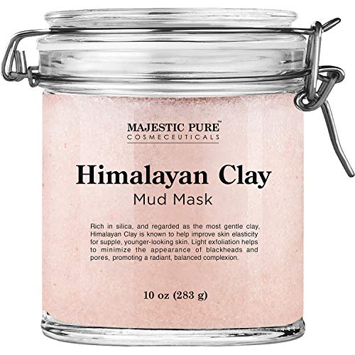 Himalayan Clay Mud Mask for Face and Body by Majestic Pure - Exfoliating and Facial Acne Fighting Mask - Reduces Appearance of Pores, 10 oz 3