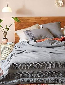 Grey Boho Duvet Cover