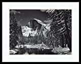 Framed Art Print, 'Half Dome, Winter - Yosemite National Park, 1938' by Ansel Adams: Outer Size 29 x 23'