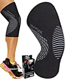 Physix Gear Knee Support Brace - Premium Recovery & Compression Sleeve for Meniscus Tear, ACL, MCL Running & Arthritis - Best Neoprene Stabilizer Wrap for Crossfit, Squats & Workouts (Single Grey S)
