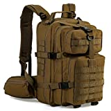 Gelindo Military Tactical Backpack, Hydration Backpack, Army molle Bag, Small Rucksack for Hunting, Survival, Camping, Trekking, 35L (Tan)