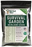 15,000 Non GMO Heirloom Vegetable Seeds Survival Garden 32 Variety Pack by Open Seed Vault