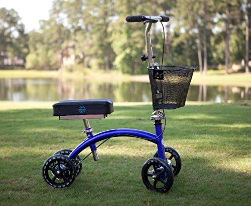 KneeRover Deluxe Steerable Knee Cycle Knee Walker  Scooter Crutch Different in Blue deal 50% off 51hEpDC2DNL