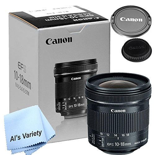Canon 10-18mm f/4.5-5.6 IS STM Lens (New Retail Box) – W/ Free Microfiber Cleaning Cloth