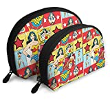 Wonder Woman Comics Travel Shell Cosmetics Storage Bags Portable Toiletry Bags For Women Girl