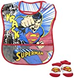 Baby-Boys Infant Superman Crumb Catcher Bib and Bootie Set, Red, One Size