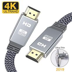 51hMoO1Lc2L - 4K HDMI cable 2m, Snowkids 2019 Newest HDMI 2.0 Cable Ultra high speed flat hdmi to hdmi 18Gbps 4K@60Hz fit Fire TV, 4k TV,3D, Ethernet,Video return UHD 3860p, HD 1080p,arc Xbox PlayStation/PS3/PS4