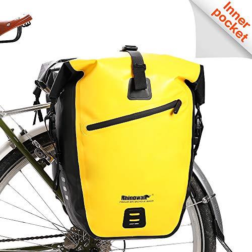 Rhinowalk Bike Bag Waterproof Bike Pannier Bag 27L,(for Bicycle Cargo Rack Saddle Bag Shoulder Bag Laptop Pannier Rack Bicycle Bag Professional Cycling Accessories)