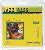 Thomastik-Infeld JF346 Bass Guitar Strings: Jazz Flat Wounds 6-String Long Scale Set; Pure Nickel Flats C, G, D, A, E, B Set