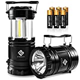 Etekcity Portable LED Camping Lantern and Flashlight with AA Batteries, Survival Light for Camping, Hiking, Reading, Hurricane, Power Outage (Black, Collapsible) (CLF50)