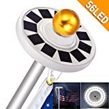 NAIYO New Generation 56LED.Solar Flag Pole Light, Flagpole Solar LightDownlight Lighting for 15 to 25 Ft Flag Pole Topper, 3 Modes,IP67 Waterproof Auto On/Off Night Light (56 LED)