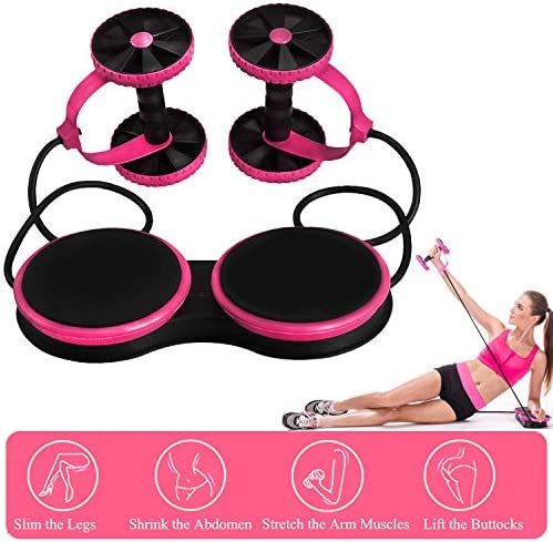 Darhoo Ab Roller Wheel - Ab Wheel Exercise Fitness Equipment - 5-in-1 Multi-Functional Core Ab Workout Abdominal Wheel Machine - Ab Roller Home Gym Equipment for Both Men & Women 1