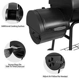 Royal-Gourmet-30-BBQ-Charcoal-Grill-and-Offset-Smoker-800-Square-Inch-cooking-surface-Outdoor-for-Camping-Black-CC1830S-model