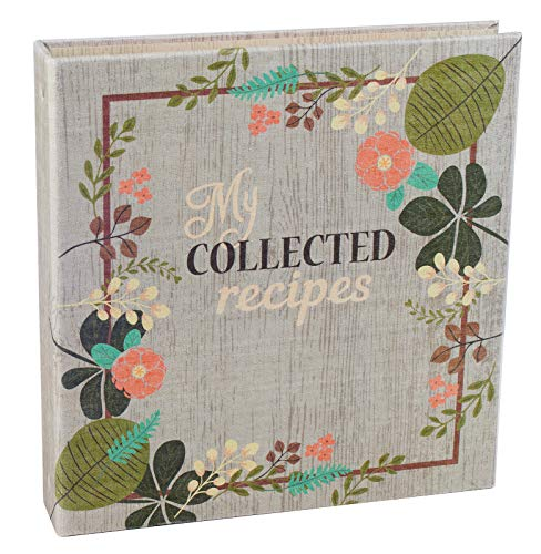 Meadowsweet Kitchens Create Your Own (Fabric Covered) Collected Recipes Cookbook, Vintage Flowers design