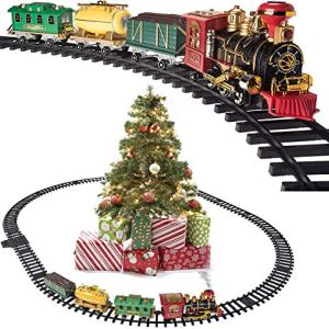 Prextex Christmas Train Set- Around The Christmas Tree with Real Smoke, Music & Lights 51hRYIwaM9L