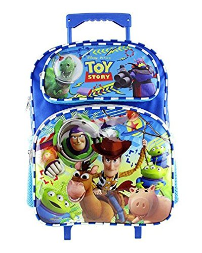 Disney Toy Story Backpack 16', Rolling Backpack 16' & Lunch Bag 8' for Kids (Optional - Depending on Selections) (Rolling Backpack Blue)