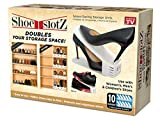 Shoe Slotz Space-Saving Storage Units in Ivory | As Seen on TV | No Assembly Required | Limited Edition Price Club Value Pack, 10 Piece Set (1)
