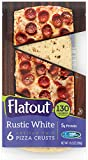 FLATOUT Flatbread - Thin Pizza Crust RUSTIC WHITE (2 Packs of 6 Pizza Crusts)