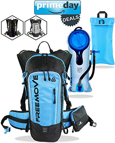 Hydration Pack Backpack with 2L Water Bladder & Cooler Bag KEEPS DRINK COOL , Lightweight - Fully Adjustable - Leakproof , Multiple Compartments , 6L Capacity , Camel Pack For Sports Enthusiast