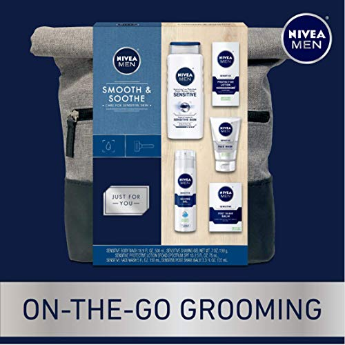 NIVEA Men Dapper Duffel Gift Set - 5 Piece Collection Of On-The-Go Grooming Needs with Travel Bag Included 4