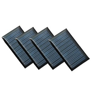 Set of 4 Pieces NUZAMAS 5V 30mA 53X30mm Micro Mini Solar Panel Cells For Solar Power Energy, DIY Home, Science Projects – Toys – 3.6v Battery Charger