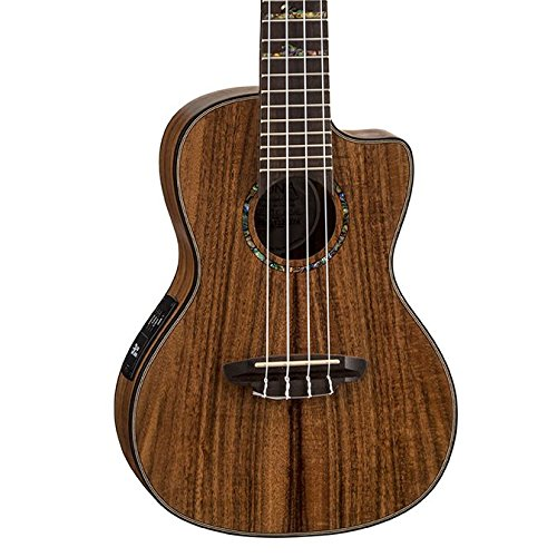 Luna High Tide Koa Concert Acoustic/Electric Ukulele with Preamp, Satin Natural
