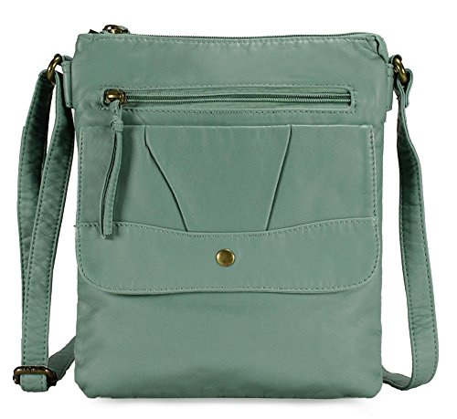 Scarleton Trendy Decorative Flap Crossbody Bag H196853 - Mint
