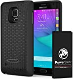 PowerBear Samsung Note Edge Extended Battery [6000 mAh] with Cover & Case [200% Battery]