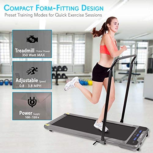 SereneLife Folding Digital Display Electric Treadmill – Fitness Training Cardio Equipment for Home Workouts, Jogging, Walking Exercise – Compact Minimal Profile Running Belt 3