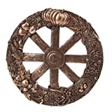 Pagan Wheel of The Year Plaque in Bronze Patina