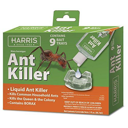Harris Borax Liquid Ant Killer, 3oz with 9 Bait Trays