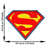 Superman Hero Superhero Movie Cartoon Dc Comic Logo Applique Iron-on Patch Embroidered Sew T-shirt