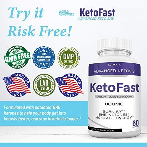 Keto Fast Diet Pills Keto BHB Fast Burn Weight Loss Capsules 700 mg Pure Keto Fast Supplement Burning for Energy - Keto BHB Ultra Boost Exogenous Ketones for Rapid Ketosis for Men Women - 2 Bottles 5