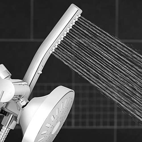 Waterpik High Pressure Hand Held Wand and Rain Shower Head Combo with Hose-BodyWand Spa System, Chrome 21