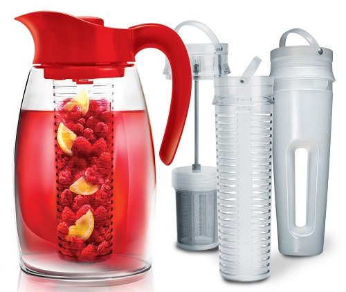 Primula PFRE-3725 Beverage System – Includes Fruit, Tea Infusion Chill Core, 2.9 quart Red
