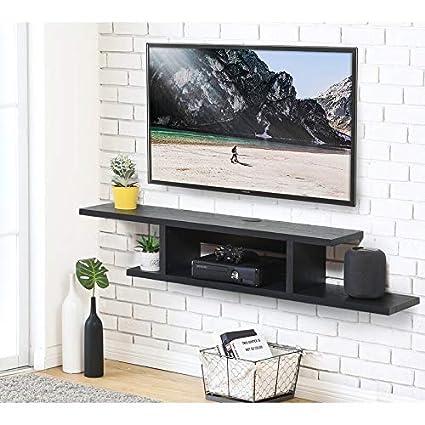Heera Moti Corporation Mac Tv Unit Wall Mount Tv Unit Finish Pre Laminted Wenge Amazon In Home Kitchen