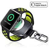 Wireless iPhone Watch Charger [ MFi Certified], Portable iwatch Charger 700mAh Smart Keychain Power Bank, Compatible for Apple Watch Series 4, 3, 2, 1 & Nike 44/40/38/42mm Watch Charger for Travel