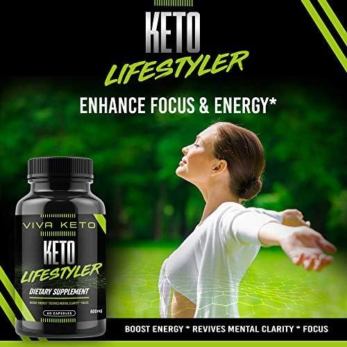 Keto Diet Pills Supplement - Exogenous Ketones Ketogenic Diet Pills - Supplies Energy - 60 Capsules 4