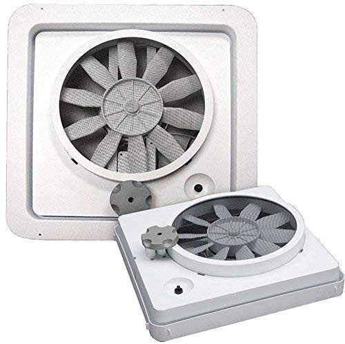 NEW HENGS VORTEX I WHITE SINGLE SPEED 12V 12 VOLT RV CAMPER MOTORHOME CEILING VENT FAN REPLACEMENT UPGRADE KIT MODEL 90043-CR by Heng's