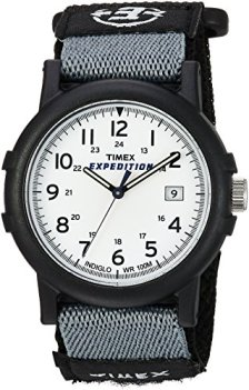 Timex Men's T49713 Expedition Camper Analog Quartz Black/White Watch